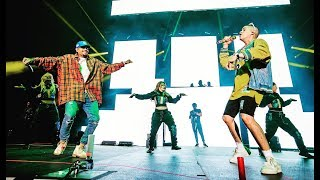Chris Brown & Bad Bunny dancing to 'Krippy Kush' (La Nueva Religion Tour)