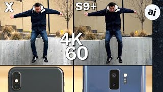 iPhone X vs S9 Plus Video Comparison - Low Quality 4K 60 on S9 ...