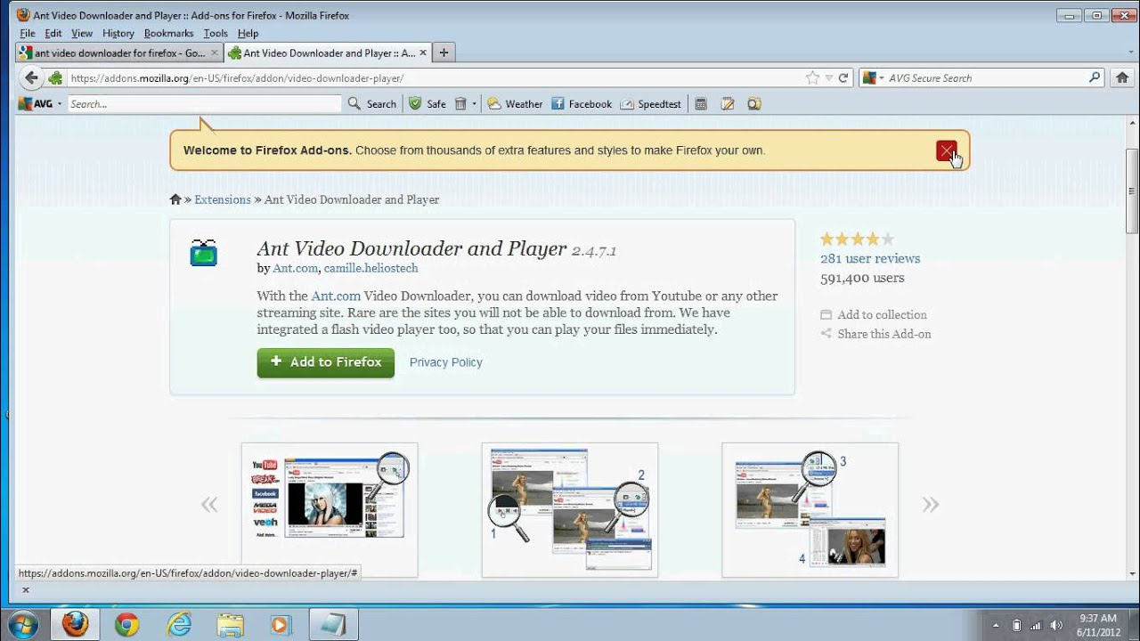 free download ant video downloader for mozilla firefox