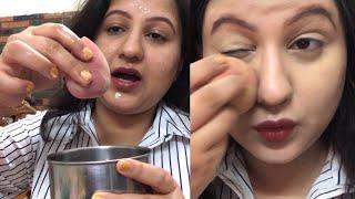 ब्यूटी ब्लैंडर इस्तेमाल करने का सही तरीका/ Base Makeup/ ब्यूटी ब्लैंडर से बेस मेकअप कैसे करें