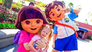 Amusement Family Fun Park and funny playtime with cute kids Video for children