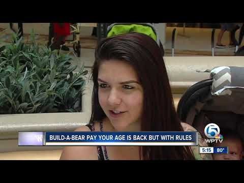 Build-A-Bear pay your age is back but with rules