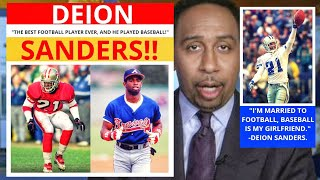 Deion Sanders(49ers/Braves) The Best Football Player Ever? First Take - Stephen/Max [Commentary]