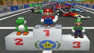 Mario Party 4 Mini Games - Mario Vs Yoshi Vs Luigi Vs Wario (Master CPU)