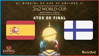 MUNDIAL AGE OF EMPIRES 2- ESPAÑA (Tatoh + Laaan) vs FINLANDIA (TheMax + Rubenstock)