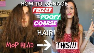 HOW TO MANAGE WAVY, FRIZZY & POOFY HAIR | MY UPDATED HAIR CARE ROUTINE