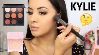TESTING OUT KYLIE COSMETICS MAKEUP! First impressions + review