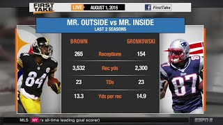 Rob Gronkowski or Antonio Brown: Who Is More Valuable?