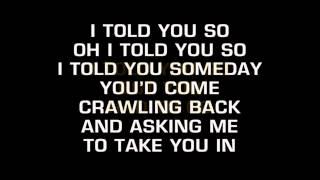 Randy Travis - I Told You So (Karaoke)