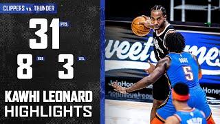 Kawhi Leonard (31 PTS 8 REB) Fired on all Cylinders vs. Oklahoma City Thunder   LA Clippers
