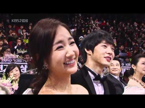 101231 KBS Drama Awards Minyoung sweet smile(with  Yu-Chun&A-IN)