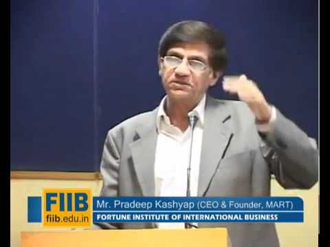 Mr Pradeep Kashyap, CEO , MART cracks code of success @ FIIB Leadership Talk Serise