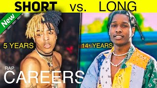 RAPPERS WITH LONG CAREERS VS SHORT CAREERS (2021 EDITION)