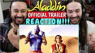 ALADDIN Official TRAILER - REACTION!!!