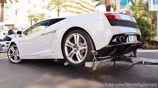 Lamborghini Gallardo Being Badly Towed