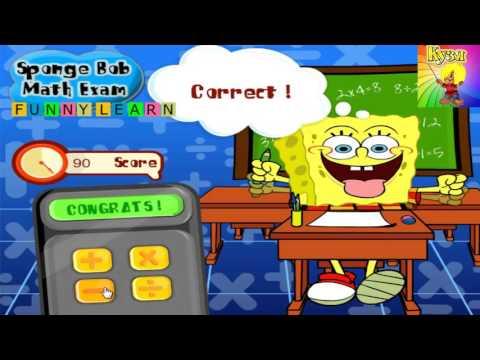 Спанч боб 2016 развивающий мультик для детей Учимся считать