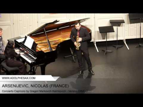 Dinant 2014 - ARSENIJEVIC Nicolas (Concierto Capriccio by Gregori Markovich Kalinkovich - v.DINANT)