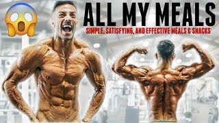 EXACTLY WHAT I'M EATING ONE WEEK AWAY FROM PHYSIQUE SHOW | SHREDDING EASY |  *NO FOOD RESTRICTIONS!!
