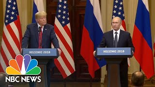 Vladmir Putin Says He Wanted President Donald Trump To Win The Presidential Election | NBC News