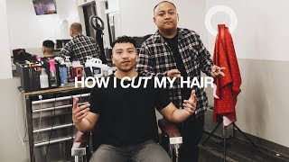 How I CUT & STYLE My Hair Ft. My Barber Ben