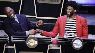 Magic Johnson & Joel Embiid React to the NBA Draft Lottery Results