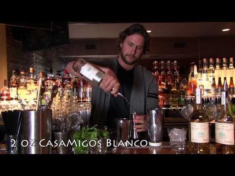 Black Garden cocktail featuring Casamigos Tequila