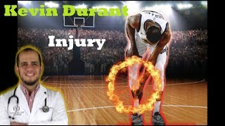 Doctor reacts to Kevin Durant Calf injury/Achiles Injury ( update confirmed achiles)
