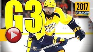Pittsburgh Penguins vs Nashville Predators. 2017 NHL Playoffs. Stanley Cup Final. Game 3. (HD)
