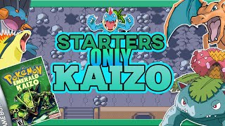 Can You Beat Pokemon Emerald Kaizo With Only Starter Pokemon ( HARDEST ROM HACK EVER MADE) !!!!