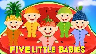 Cinque Piccoli Bambini | Canzone Bambino In Italiano | Filastrocca | Kids Rhyme | Five Little Babies