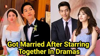10 Korean Couples That Got Married After Starring Together In Dramas