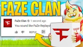 i pretended to be in FAZE CLAN again on fortnite....