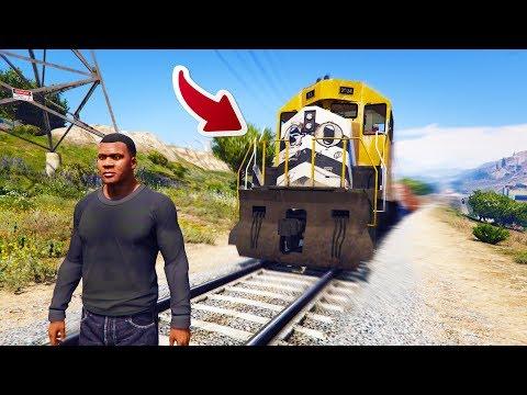 【金電玩】把火車搶過來去環島 最後竟然發生重大意外!《GTA5 MOD》