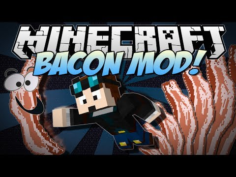 Minecraft   BACON MOD! (Bacon Trees, Rainbow Bacon, Sloths & More!)   Mod Showcase - Smashpipe Games
