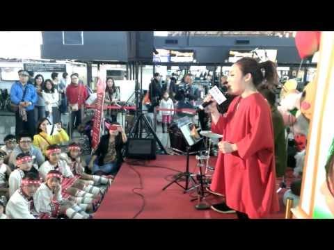 徐佳瑩LaLa【失落沙洲】合唱版/昇恆昌聖誕音樂會@桃園機場