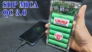 Chế Sạc Dự Phòng QC 3.0 Box Mica với Cell Pin LapTop Cũ