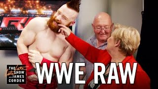 James Corden's Parents Invade WWE's Monday Night Raw