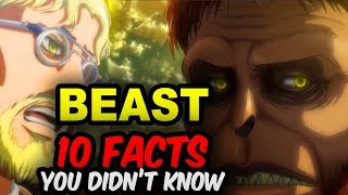 10 BEAST TITAN Facts You Didn't Know! Attack on Titan Zeke Facts - Attack on Titan Anime Facts