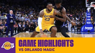 HIGHLIGHTS | LeBron James (25 pts, 10 ast, 11 reb) vs Orlando Magic