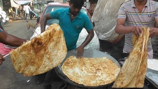 World Big Paratha with Halua @10 rs ($0.14) Only   Best & Cheap Street Food Mumbai