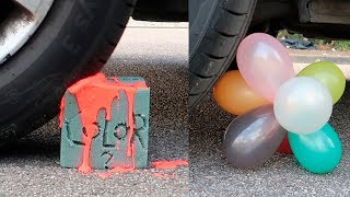 RUNNING OVER CRUNCHY and SOFT THINGS With a CAR ! (Very satisfying and Relaxing) #3