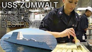 Life Aboard US Navy Stealth Destroyer USS Zumwalt