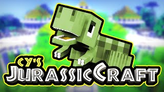 Cy's Jurassic Craft | EPiC PARK BEGINS | Minecraft Dinosaurs | Ep 1