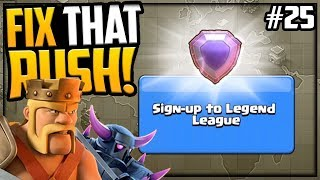 RUSHED to LEGEND League! GEM, Max, Fix That Rush Clash of Clans Episode 25