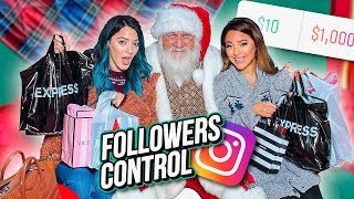 We Let our Instagram Followers Control our Christmas Shopping...Niki and Gabi