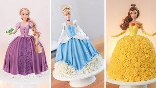 Disney Princesses - Doll Cakes - Tan Dulce