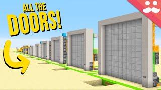Every Piston Door from 1x1 to 10x10
