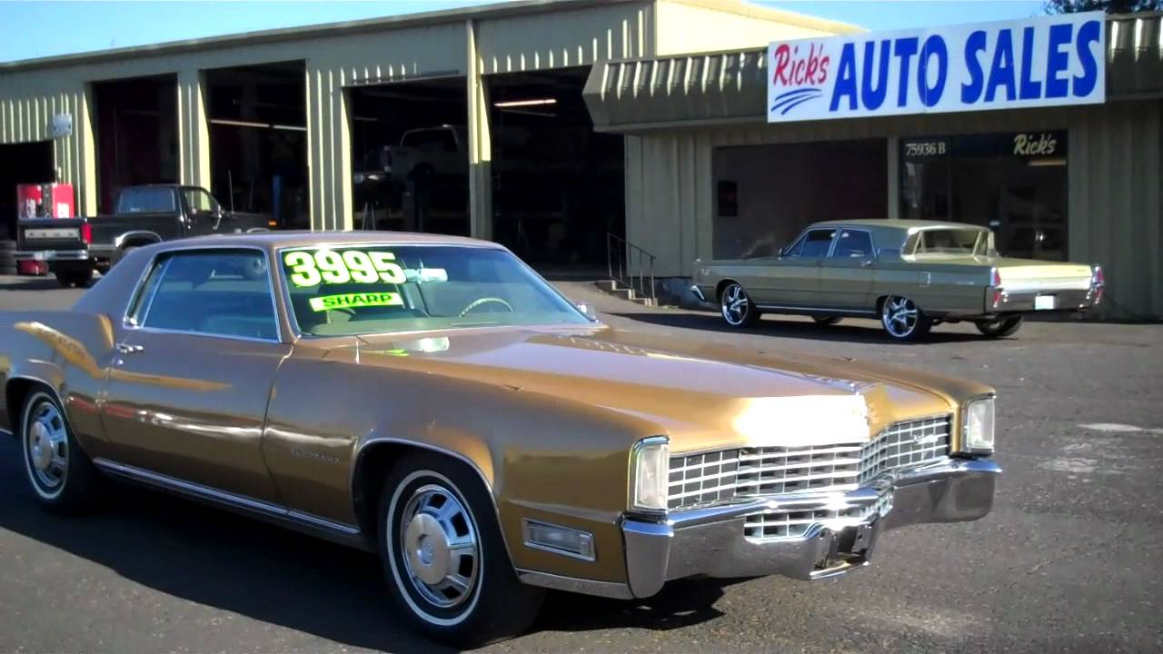 Ricks Auto Sales >> 1968 CADILLAC ELDORADO $3995 SOLD - YouTube