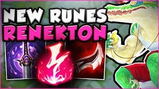 JUST HOW OP ARE THE NEW RUNES ON RENEKTON?! NEW RENEKTON TOP SEASON 8 GAMEPLAY! - League of Legends