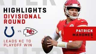 Patrick Mahomes Highlights of 1st Career Playoff Win!